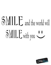 Vinyl Wall Decal Sticker Smile Smile Quote Gfoster183 Stickerbrand