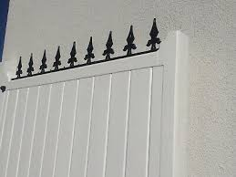 Decorative Fleur De Lys Steel Wrought Iron Rail Wall Or Fence Topper Exc Cond Ebay
