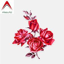 Aliauto Flowers Car Stickers Red Roses Accessories Decor Vinyl Decal For Golf 7 Kia Opel Astra J Suzuki Tiguan 14cm 12cm Car Stickers Aliexpress