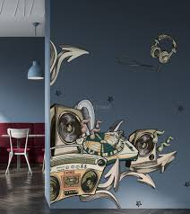 Vintage Music Old Radio And Headphone Wall Decal Sticker Wall Decals Wallmur