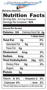 ay basmati brown rice nutrition