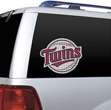 Amazon Com Mlb Minnesota Twins Die Cut Window Film Sports Fan Decals Sports Outdoors
