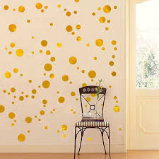 Gold Wall Decal Dots Easy To Peel Easy To Stick Safe On Painted Walls