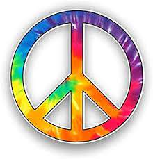 Amazon Com Peace Sign Graphic Tie Dye Car Stickers Decals Waterproof Car Styling Bumper Stickers For Car Body Door Window Stickers Vinyl 5 Automotive