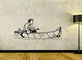 Amazon Com Wall Vinyl Decal Canoe Canoeing River Water Sports Decor Sticker Home Print Wd10158 Home Kitchen