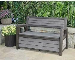 keter storage bench 60 gallon deck box