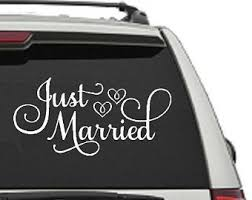 Just Married Decal Etsy