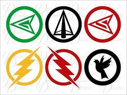 Team Green Arrow Emblems Vinyl Car Decal Set Dc Comics Justice League Oliver Queen Malcolm Merlyn Roy Harper Barry Green Arrow Green Arrow Logo Dc Comics