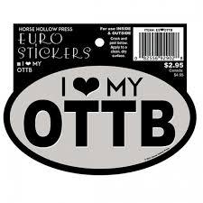 Horse Hollow Press Ottb Oval Sticker