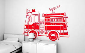 Vinilos Camion De Bomberos Xxl Kids Wall Decor Wall Stickers Kids Kids Wall Decals