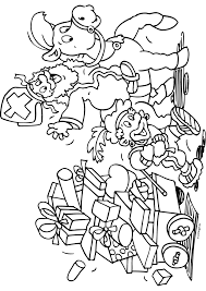 Sint En Piet Met Heel Veel Cadeau S Sinterklaas Kleurplaten