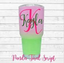 Personalized Name Initial Monogram Vinyl Decal For Your Cups Tumblers Ramblers Ebay