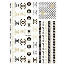 Chanel Nail Decal Stickers Nail Company Wholesale Supply Inc