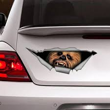 Vinyl Decal Chewbacca Car Window Bumper Laptop And Bumper Custom Decoration This Sticker Is Avaible In Three Siz Star Wars Decal Star Wars Gifts Star Wars
