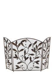 iron ornate leaf fireplace screen