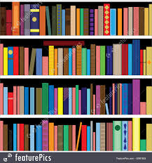 books on bookshelf background
