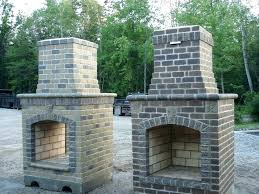 diy outdoor fireplace plans styleid co