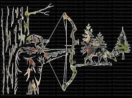 Mossy Oak Break Up Ambush Bow Hunting Whitetail Deer Hunting Window Decal