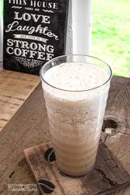 frothy homemade iced coffee with simple