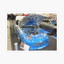 Blue Flames Car Canvas Print By Mltrue Redbubble