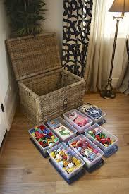 Toy Chest Organization Organized By Kelley Kid Friendly Living Room Creative Toy Storage Kids Room