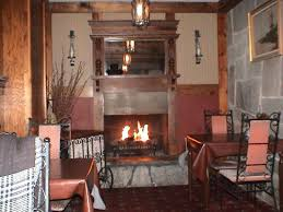 the gas fireplace in the east room