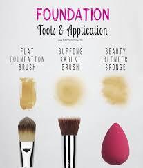 makeup brush or sponge for liquid
