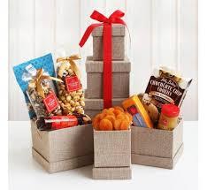 savory holiday snacks food gift tower