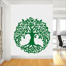 Tall Sacred Tree Wall Decal Tree Of Life Vinyl Sticker For Wall Or Window Home Decor Garden Of Eden Big Trees Yoga Wall Stickers For Baby Room Wall Stickers For Bedroom From