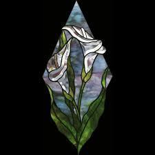 free calla lily bevel panel pattern