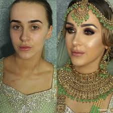 asian bridal hair and makeup artist in