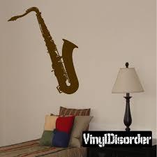 Saxophone Horn Music Wall Decal Vinyl Decal Car Decal Al013 Music Wall Decal Vinyl Wall Decals Car Decals Vinyl