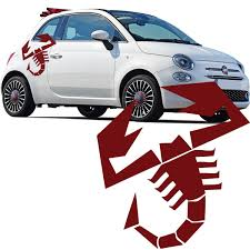100 Brand New Fiat 500 Abarth Scorpion Car Side Stripes Stickers Italian Flag Decal Graphic Funny Car Decal Vinyl Sticker 10 Colour Wish