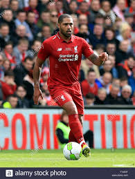 Liverpool's Glen Johnson during the Legends match at Anfield ...