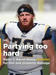 Rams C Aaron Neary arrested for DUI and property damage hours ...