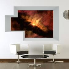 Wall Cutout Space Red Explosion Vinyl Wall Decal The Decal Bros