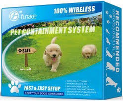 Amazon Com Wireless Pet Fence Free To Roam Wireless Containment For Dogs Rechargeable Waterproof Vibration Static Shock Collar Easy Installation No Need To Dig Trench