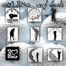 Golf Vinyl Decals Golfing Sticker Golfer Decal Car Window Sticker Car Decal Personalized Sticker Cu Vinyl Decals Custom Vinyl Decal Stickers Custom