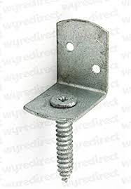 10x L Shaped Fence Post Brackets Screw In Screw Attached Fence Clip Galvanised Amazon Co Uk Diy Tools