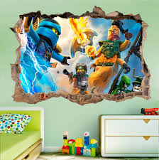 Lego Ninjago Wall Decal 3d Smashed Wall Sticker Wall Vinyl Etsy