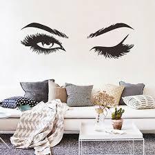 1x Woman Eye Wall Sticker Art Lash Face Girl Eyelash Decor Beauty Salon Decal Ebay