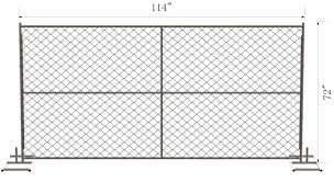 6ft X 12ft 72inch X 120inch Chain Link Temporary Fencing 2 X 2 X 11 Gauge Wire Chain Mesh Temp Construction Fence For Sale Chain Link Fabric Manufacturer From China 106943907