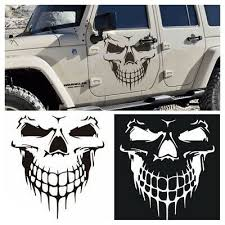 Punk Skull Funny Vinyl Decals Stickers Self Adhesive For Car Window Ebay In 2020 Funny Vinyl Decals Truck Tailgate Car Decals