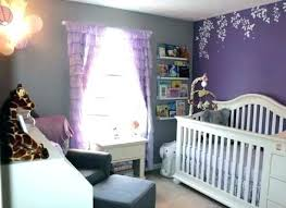 purple and yellow baby room