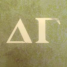 Delta Gamma Dg Sorority Letters Gold Foil Car Decal 4 Great Greek Gift Perfect For Car Window Bumper Laptops Delta Gamma Gifts Greek Gifts Delta Gamma