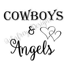 Car Decal Cowboys And Angels Car Sticker Laptop Sticker Laptop Decal Ipad Decal Cowboys And Angels Ipad Decal Car Stickers