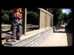 Interloc Kings Inc Retaining Wall Fence Project Youtube