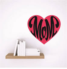 Vinyl Decal Mom Heart Design Children Son 20x20 Contemporary Wall Decals By Design With Vinyl