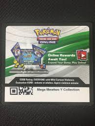 $1.95 - Pokemon Mega Mewtwo Collection Xy101 Tcgo Online Promo ...