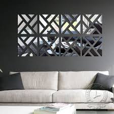 Diy Home Decoration 3d Fashion Mirror Surface Of The Mirror Wall Stickers Living Room Decorative Sticke Geometric Wall Decor Funky Home Decor Mirror Wall Decor